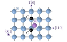 An artificial atom in silicon emitting single photons at telecom wavelength
